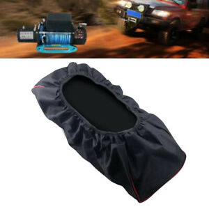 Black Winch Dust Cover 420d 5000lb To 13000lb Fits Driver Recovery Waterproof