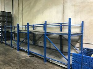4 X Gravity Pallet Conveyors 2 Rollers 13 L X 48 W
