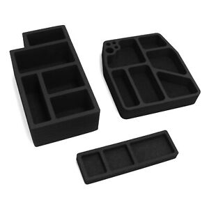 Center Console Organizers 3pc Inserts Washable Fits 250 Superduty 2017 19 Floor
