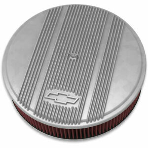 Holley 120 170 Officially Licensed Chevy Bowtie Vintage Finned Air Cleaner Assem