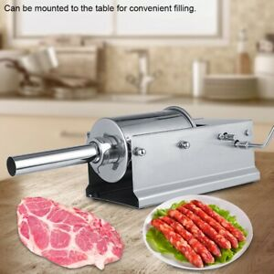 5l Horizontal Commercial Sausage Stuffer Two Speed Stainless Steel Meat Press