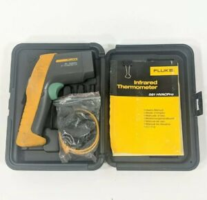 Fluke 561 Ir Infrared Digital Thermometer With Plug In Heat Tester And Case