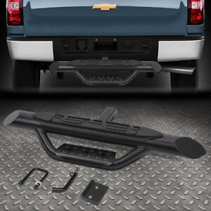 For 2 Receivers Truck Bed Heavy Duty Steel 3 75 Od Oval Towing Hitch Step Bar