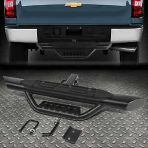 For 2 Receiver Truck Bed Heavy Duty Aluminum 3 75 Od Oval Towing Hitch Step Bar
