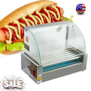 usa Commercial 18 Hot Dog 7roller Grill Roasted Sausage Cooker Machine Home