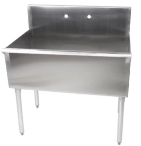 Stainless Steel 16 gauge Deep Compartment Commercial Utility Sink 36 X 24 x 14