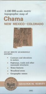 Usgs Topographic Map Chama New Mexico 1981 100k
