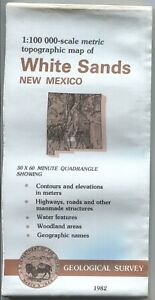 Usgs Topographic Map 1982 New Mexico Whtie Sands 100k