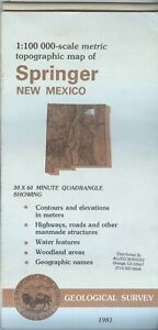 Usgs Topographic Map Springer New Mexico 1981 100k