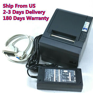 Epson Tm t88iii M129c Pos Thermal Receipt Printer Serial Port With Power Supply