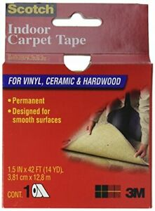 3m Ct2010 Double Sided Heavy duty Indoor Carpet Tape 38 1 Mm W X 1 8 M L