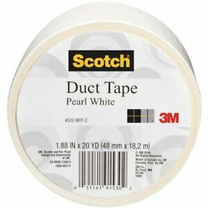 Scotch Duct Tape Pearl White 1 88 inch By 20 yard