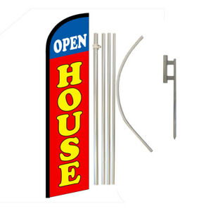 Open House Full Curve Swooper Windless Advertising Flag Real Estate Properties