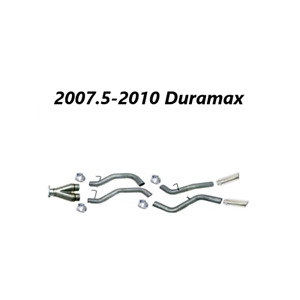 Flo Pro 4 Dpf Back Dual System For 2007 5 2010 Chevrolet Duramax 2500 3500
