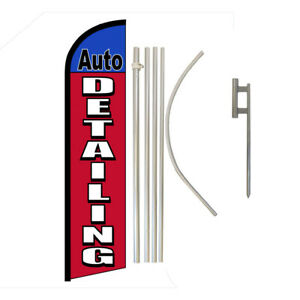 Auto Detailing Full Curve Swooper Windless Advertising Flag Automotive Services