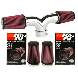 K N Filter Dual For 2003 2008 Dodge Ram 1500 Hemi 5 7l V8 Twin Air Intake Kit