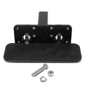 Fit 2 Receivers Heavy Duty Aluminum 14 X5 Tow Hitch Step Board Foldable Black