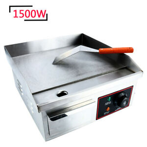 Stainless Steel Electric Thermomate Griddle Grill Bbq Plate Commercial Tool