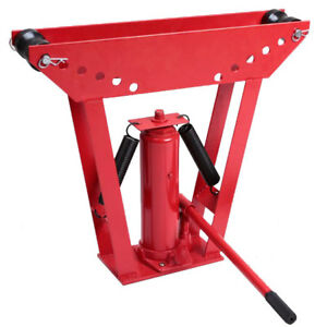 Hydraulic Pipe Tube Bender 6 Dies Tubing Exhaust Bending 12 Ton High Quality Red