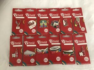 London 2012 Coca Cola Pin Badges Including Olympic Venue Pins