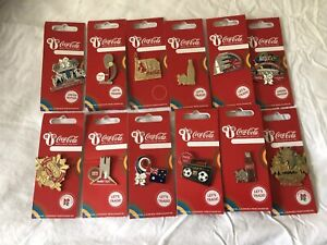 London 2012 Coca Cola Pn Badges Collection With Opening And Closing Ceremony Pin