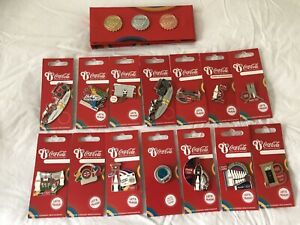London 2012 Coca Cola Pin Badges Collection