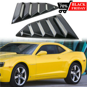 For 2017 2019 Chevy Camaro Matte Black Finish Rear Window Quarter Louver Covers