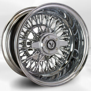 4 Pcs 14x7 72 Spoke Double Cross Lace Chrome Luxor Wheel With Knock Off N Chip