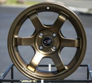 15x7 Rota Grid Concave 4x100 20 Full Royal Sport Bronze Set Of 4