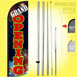 Grand Opening Windless Swooper Flag Kit 15 Feather Banner Sign Kq98 h