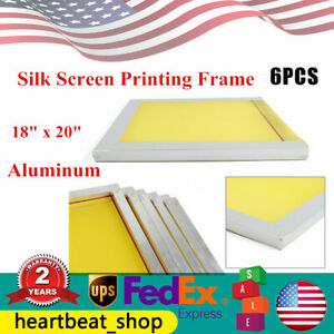 18 X 20 Pre stretched Aluminum Silk Screen Printing Frames 6 Pack 200 Mesh