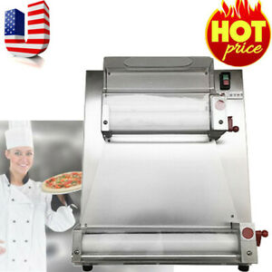 New Automatic Electric Pizza Dough Roller sheeter Pizza Making Machine 370w