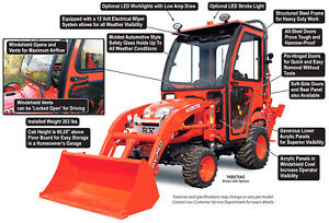 Curtis Hard Side Deluxe Cab For Kubota Bx70 And Bx25d 1kbx70as