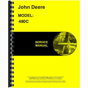 Service Manual Made For John Deere Jd Crawler Model 450c