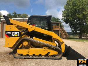 2015 Caterpillar 299d Skidsteer Rubber Track Loader Cab Ac Cat Crawler Tractor