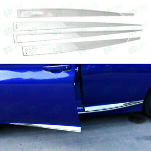 6 Stainless Steel Body Door Side Molding Cover Fit For Honda Accord 2018 Fj2 92
