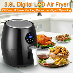 4qt 1350w Air Fryer Digital Lcd Touch Oil Free 360 Heating Cooking Home Kitchen