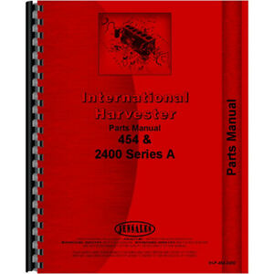 New International Harvester 454 Tractor Parts Manual