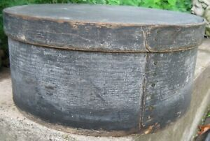 Antique Show Stopping Xl 15 Wooden Pantry Box Old Blue Gray Paint Hudson Valley