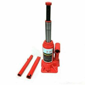 Hydraulic Bottle Jack 2 Ton Portable Auto Car Emergency Tire Stand Manual Tool