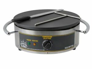 16 Crepe Maker Round 120 V Heavy duty Stainless Steel Non stick Cast Iron New