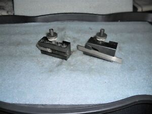 Pair Of Yuasa Axa Size Quick Change Tool Holders Parting Boring Bar Holders