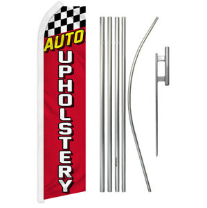 Auto Upholstery Swooper Flag Kit Feather Flutter Super Advertising Flag Kit Auto