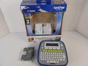 Oem Brother P touch Pt d200 Label Maker Thermal Printer W Tape