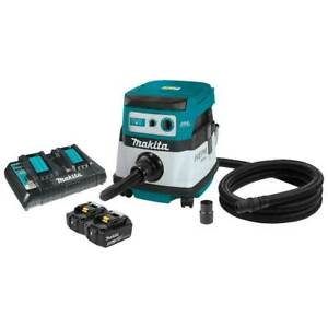 Makita Xcv07ptx 36 Volt X2 2 1 Gallon 5 0ah Brushless Dry Dust Extractor Kit