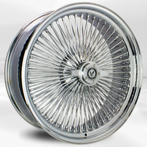 4 Pcs 22x8 150 Spoke Straight Lace Chrome Luxor Wheel With Knock Off N Chip