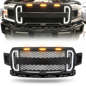 Ford F150 Raptor Style Grill Grille With Tunning Led Lights For F150 2018 2019