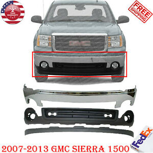 Front Bumper Chrome Steel Valance Extension For 2007 2013 Gmc Sierra 1500