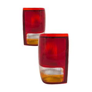 Fits 1993 1997 Ford Ranger New Tail Lights Set Pair Assembly