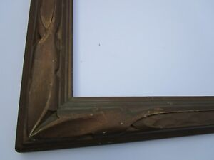 Antique Wood Carved Gold Frame For 35 By 30 Inch Painting Photo Vintage Print